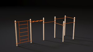 workout sports exercises 3D model