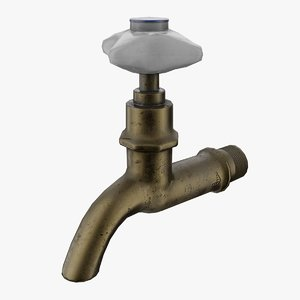 3D model old soviet faucet