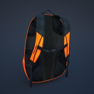 backpack knapsack rucksack 3D model