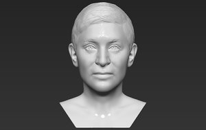 3D model ellen degeneres bust printing