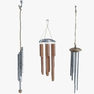windchime metallic 3D