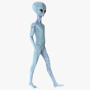 space alien walking pose 3D model