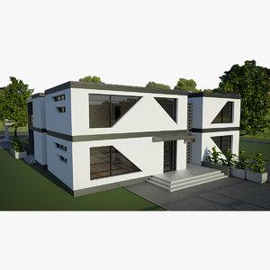 3D residental cubic house building