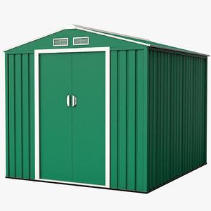 3D model modeled storage shed