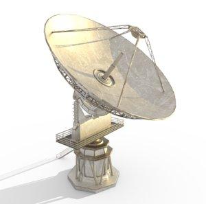 3D radio telescope model