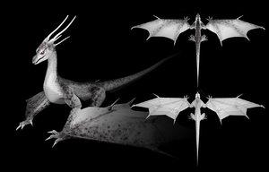 3D model dragon animations