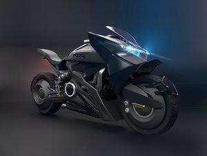 3D model futuristic motorcycle
