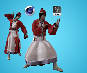 rigged pbr animation 3D model