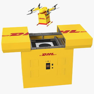 3D dhl express delivery drone