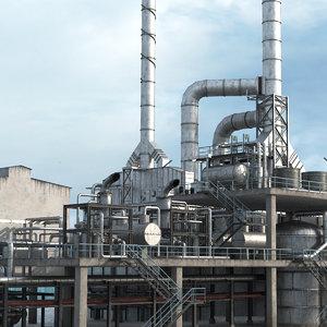 refinery chimney 3D model