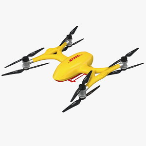 3D dhl quadcopter drone copters model
