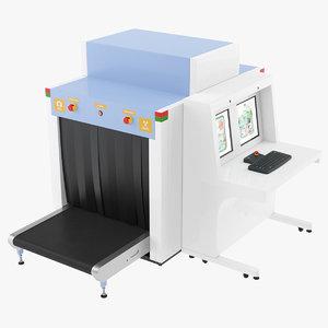 3D model baggage scanner
