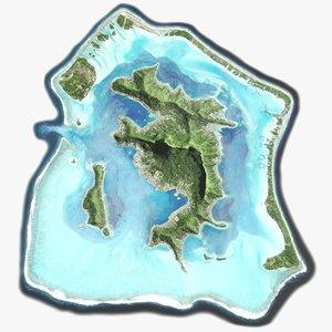 bora-bora islands 16k 3D model