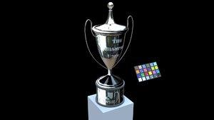 3D trophy league cup model