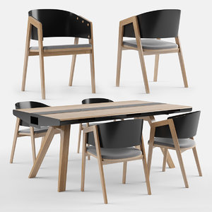 vox nature dining table 3D