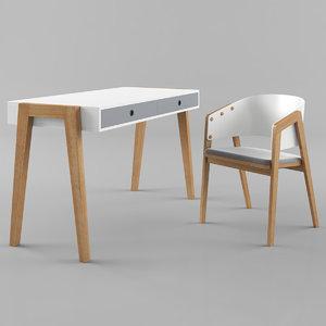 vox concept desk uni 3D model