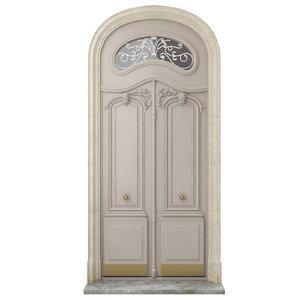 3D model classic door