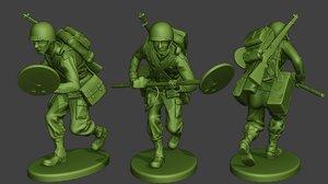 american soldier ww2 engineer 3D