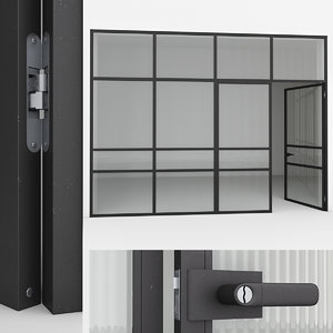 aluminium door 3D