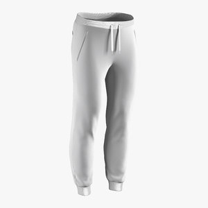3D sweatpants male w model
