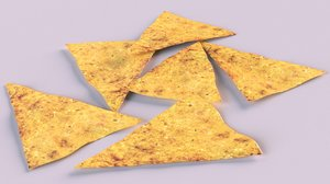 3D chips doritos model