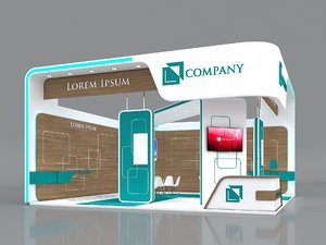 3D exhibition booth stand stall