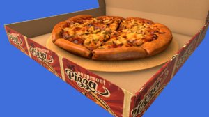 pizza animate 3D
