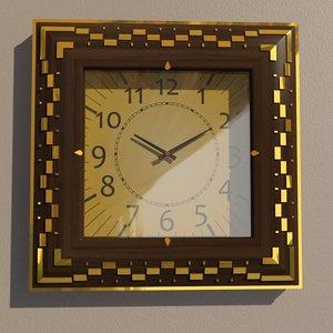 3D square wall clock
