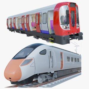 3D model hitachi azuma train london underground