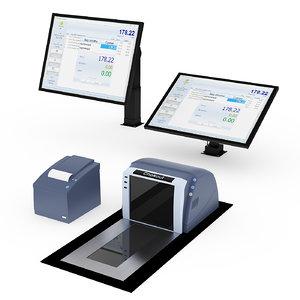 equipment printer scanner 3D model