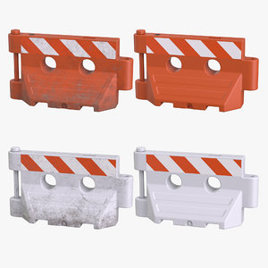 plastic barrier pbr model