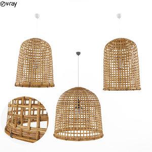 3D rattan lamp model