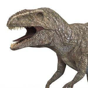 3D giganotosaurus dinosaur pbr model