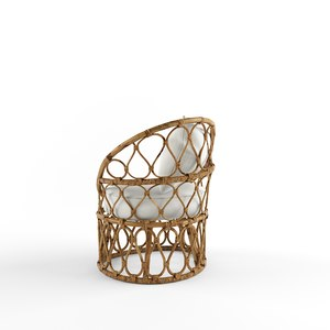 forma easy armchair petite 3D