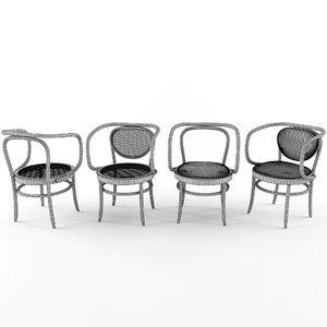 3D armchair 209 210 thonet chair