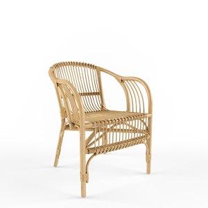 3D model pari rattan chair