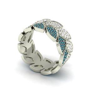 3D laurel wreath ring model