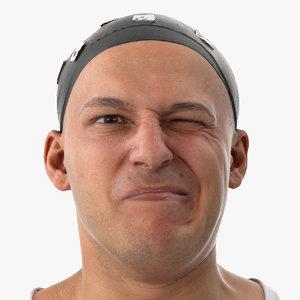 marcus human head nose 3D model