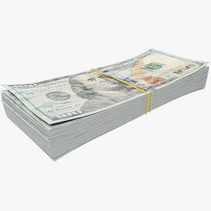 dollars bills banknotes 3D