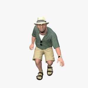 beach grandpa 3D model