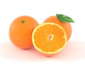 orange fruit 3D model