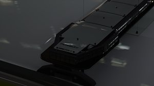 3D code 3 pursuit lightbar model