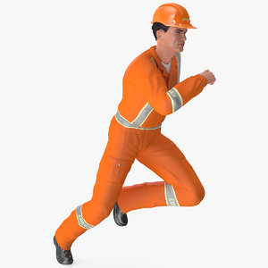 rescuer running pose rescue 3D model