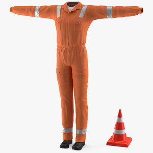 3D road worker clothes works