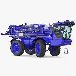 3D self propelled crop sprayer model