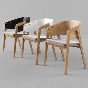 3D model vox uni chair