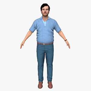 3D family man rigged model