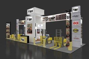 exhibition stand 6x18m 108sqm 3D model