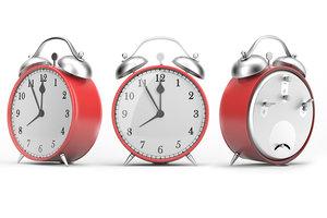 3D classical alarm clock model
