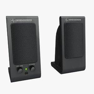 3D computer speakers model